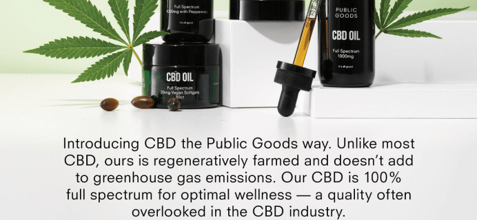 Public Goods CBD Collection Available Now + Coupon!