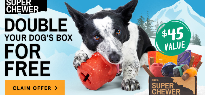 BarkBox Super Chewer Deal: First Box Double Deluxe + Ski Themed Box!