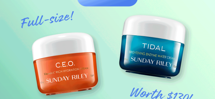 Birchbox Coupon: FREE $130 value Sunday Riley Cream Duo w/ 1 Yr Sub!