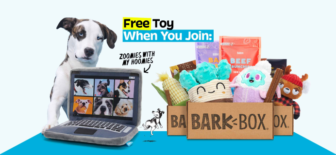 BarkBox Coupon: FREE Zoom Meeting Laptop Plush Toy!