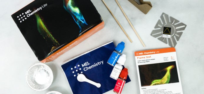 MEL Chemistry Lite by MEL Science Subscription Box Review – FLAME TEST