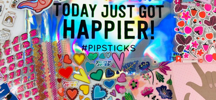 Pipsticks Pro Club Classic January 2021 Sticker Subscription Review + Coupon!