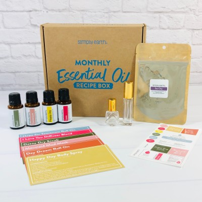 Simply Earth February 2021 Essential Oil Subscription Box Review + Coupon