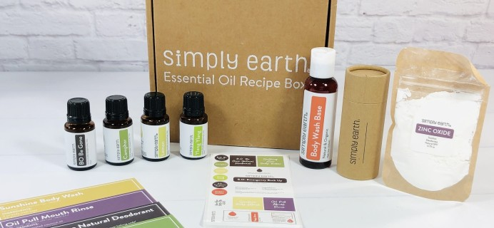 Simply Earth January 2021 Subscription Box Review + Coupon