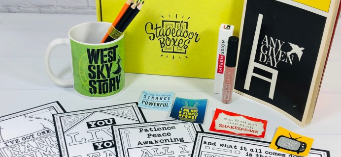Stagedoor Boxes Subscription Box Review – January 2021