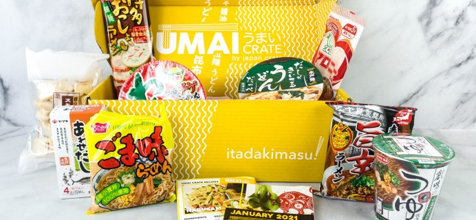 Umai Crate January 2021 Subscription Box Review + Coupon