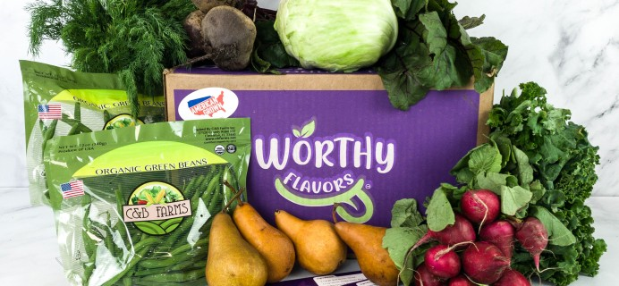Worthy Flavors Produce Subscription Box Review