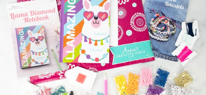 Annie's Creative Girls Club Review + 80% Off Coupon – Bracelets & Notebook