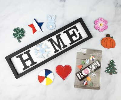 Annie's Creative Woman Kit-of-the-Month Club Review + Coupon – HOLIDAY HOME SIGN