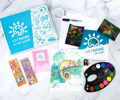Artshine in a Box January 2021 Subscription Box Review + Coupon