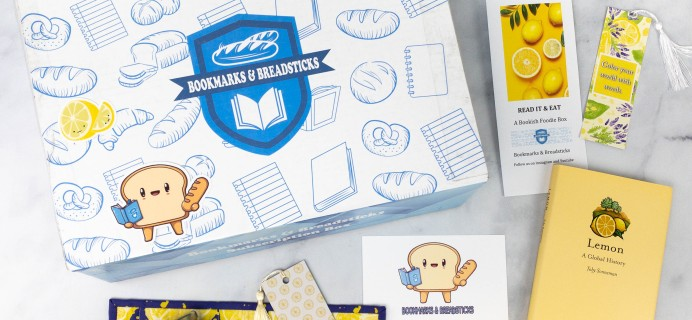 Bookmarks & Breadsticks Spring 2021 Subscription Box Review – LEMONS