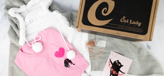 Cat Lady Box February 2021 Subscription Box Review – MEOWLENTINE'S DAY BOX!