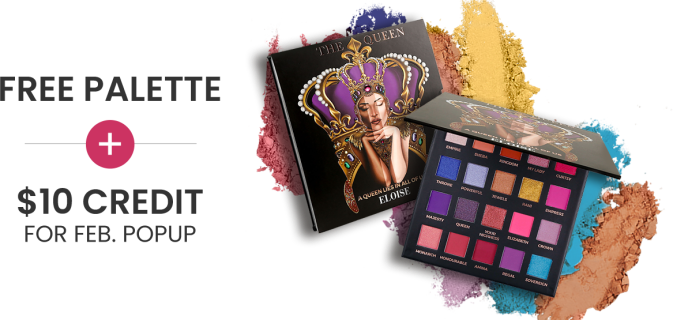 BOXYCHARM Coupon: FREE Palette + $10 Add-Ons Credit with February 2021 Box!