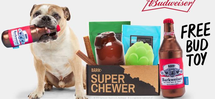 BarkBox Super Chewer Coupon: Get FREE Budweiser Toy!