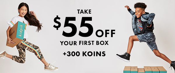Kidpik Super Box Sunday Coupon: Save $55 Off + 300 FREE Koins!