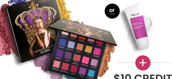 BOXYCHARM Coupon: FREE Palette OR Cleanser + $10 Add-Ons Credit with February 2021 Box!
