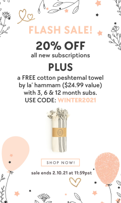 EXTENDED Bombay & Cedar Flash Sale: Get 20% Off + FREE Towel On ALL Subscriptions – Lifestyle, Beauty, & Seasonal Box!