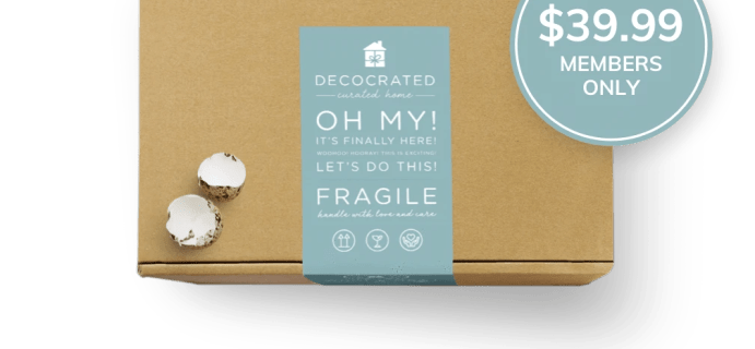 Decocrated Easter Box 2021 Full Spoilers + Coupon!
