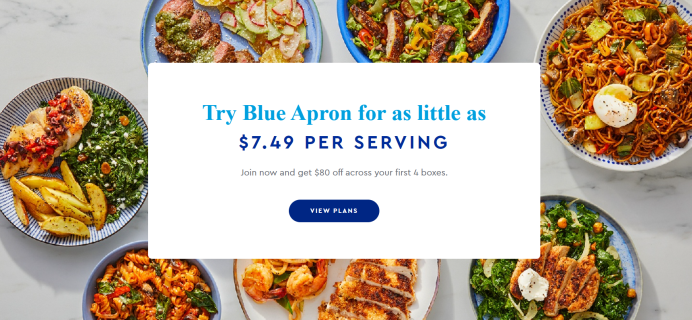 Blue Apron Coupon: Save Up to $80!