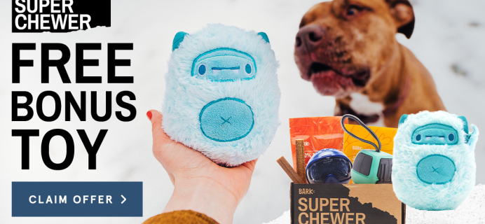 BarkBox Super Chewer Coupon: Get FREE Ice Beast Toy + Ski Themed Box!