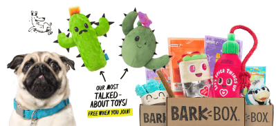 BarkBox Coupon: FREE Cactus Toy Bundle With Subscription!