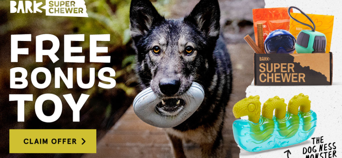 BarkBox Super Chewer Coupon: Get FREE Dog-Ness Monster Toy!