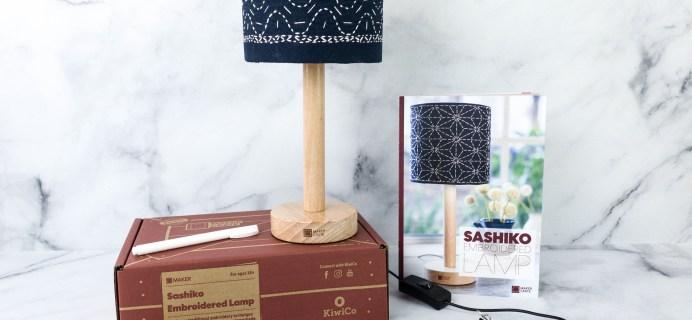 Maker Crate Review + Coupon – SASHIKO EMBROIDERED LAMP