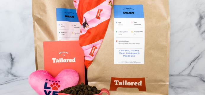 Tailored Dog Food Subscription Review + Coupon