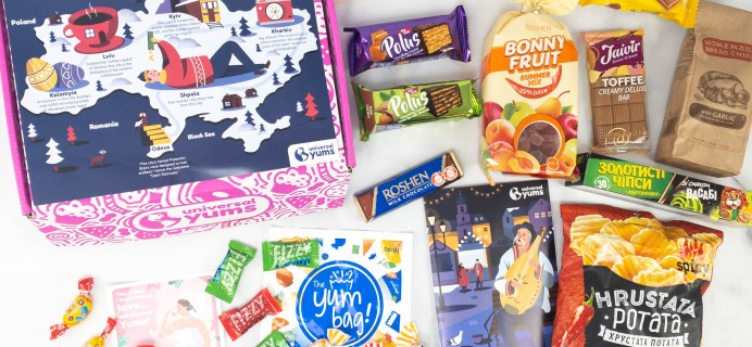 Universal Yums Subscription Box Review + Coupon – UKRAINE