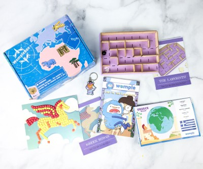WompleMail Kids Subscription Box Review + Coupon – GREECE