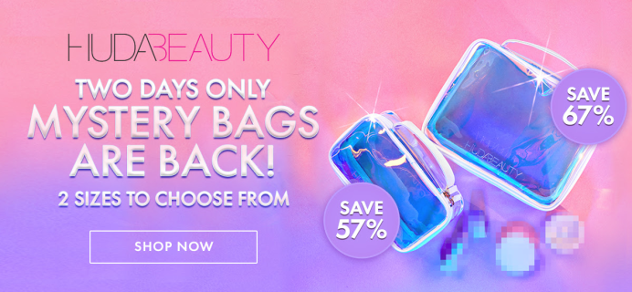 Huda Beauty Mystery Bags Available Now – TWO DAYS ONLY!