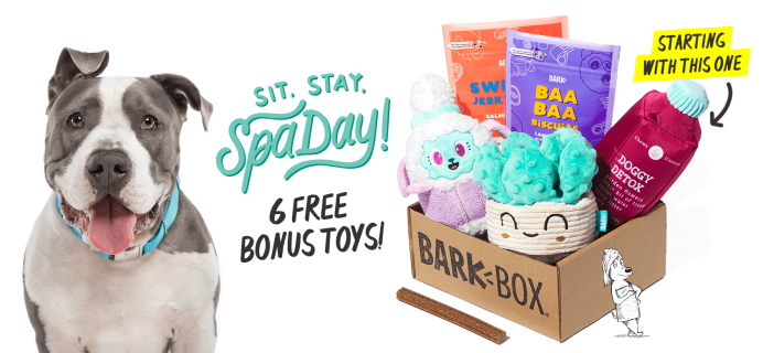 BarkBox Deal: 6 FREE Bonus Toys With Subscription!