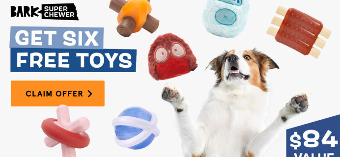 BarkBox Super Chewer Coupon: Get FREE Extra Toys!