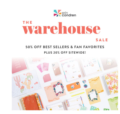 Erin Condren Annual Warehouse Sale: Save up to 50%!