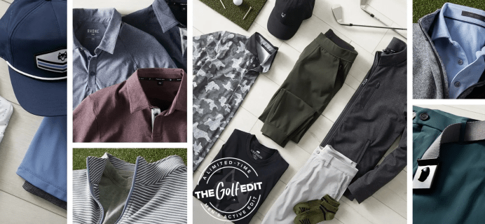 Wantable Men's Active Golf Edit Available Now!