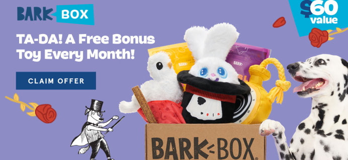 BarkBox Coupon: FREE Toy in EVERY Box + Magic Themed Box!