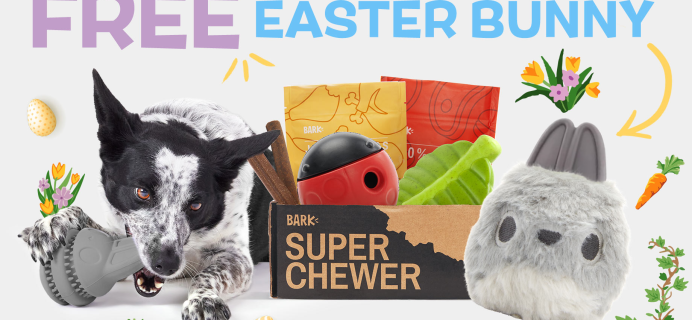 BarkBox Super Chewer Coupon: Get a FREE Easter Bunny Toy!