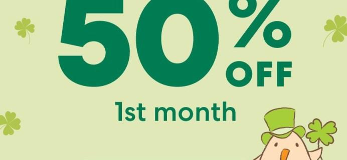 KiwiCo St. Patrick's Day Flash Sale: Get 50% Off First Box!