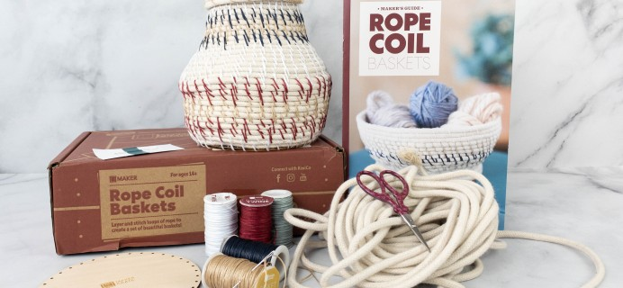 Maker Crate Review + Coupon – ROPE COIL BASKETS