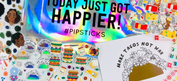 Pipsticks Pro Club Classic February 2021 Sticker Subscription Review + Coupon!