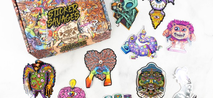 Sticker Savages February 2021 Subscription Box Review + Coupon