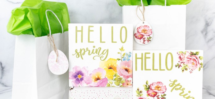 Confetti Grace March-April 2021 Craft Subscription Box Review
