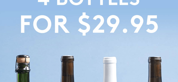 Winc Coupon: Get 4 bottles for $29.95!