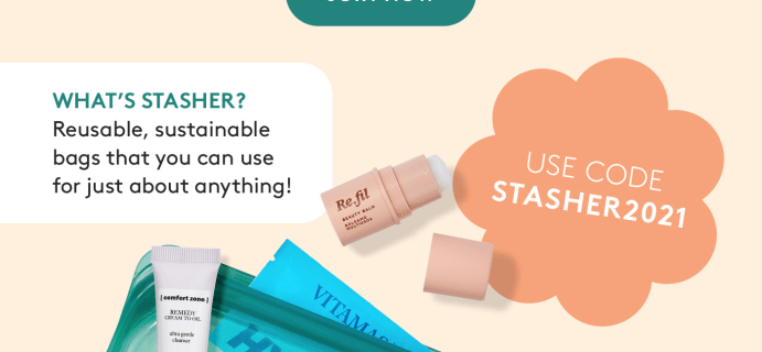 Birchbox Earth Month Coupon: Start Your First Box With The Stasher Bag!