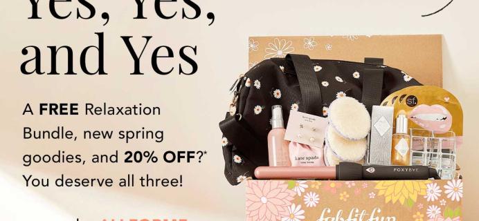 FabFitFun Coupon: Get 20% Off First Box + FREE Relaxation Bundle!