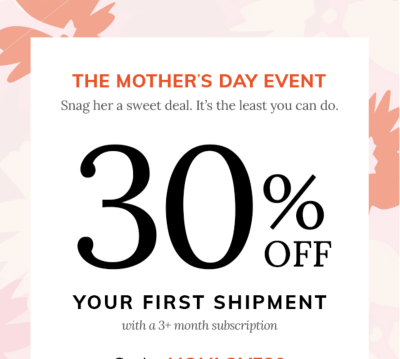 Cratejoy Mother's Day Sale: Get 30% Off!