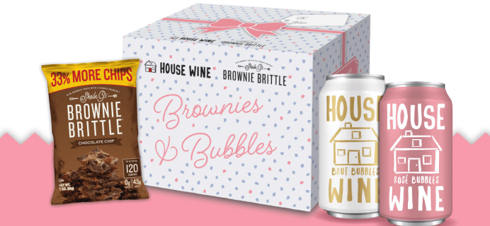 House Wine x Brownie Brittle Brownies & Bubbles Gift Box Available Now!