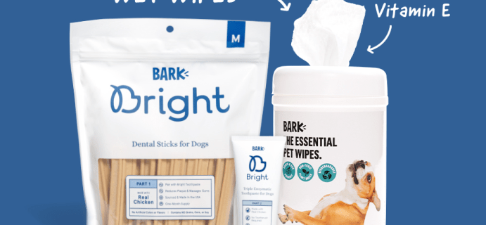 Bark Bright Coupon:  FREE Wet Wipes with Subscription!