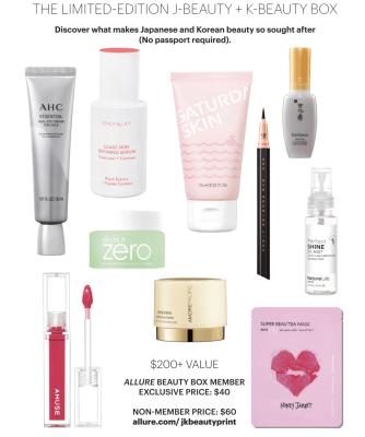 Allure Beauty Box Limited Edition J-Beauty + K-Beauty Box Coming Soon!