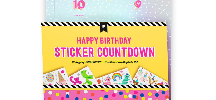 2021 Pipsticks Birthday Countdown Calendar Is Here!